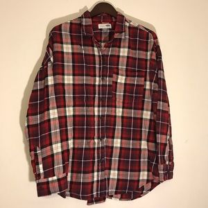 🍂Women's Old Navy Plaid Boyfriend Flannel Size XL